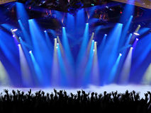 Stage Spotlight with Laser rays Royalty Free Stock Image