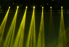 Stage Spotlight with Laser rays Stock Photography