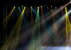 Stage Spotlight with Laser rays Royalty Free Stock Images