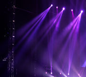 Stage Spotlight with Laser rays Royalty Free Stock Photography