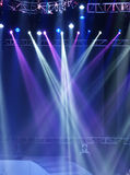 Stage Spotlight with Laser rays Royalty Free Stock Photos