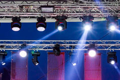 Stage spotlight with light beams Royalty Free Stock Photo