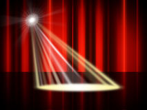 Stage Spotlight Means Live Event And Broadway Royalty Free Stock Photos