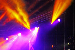Stage Spotlight with rays Stock Images