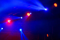 Stage Spotlight with rays Royalty Free Stock Image
