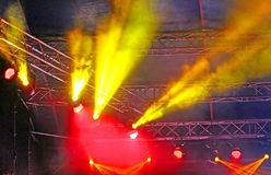 Stage Spotlight with rays Royalty Free Stock Photo