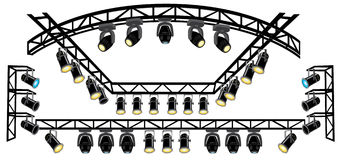 Stage spotlight on truss Royalty Free Stock Image