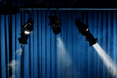 Stage Spotlights Stock Image