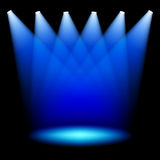 Stage spotlights. Set of stage spotlights vector illustration Stock Photos