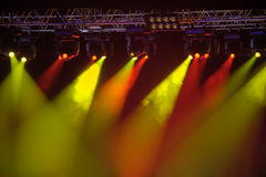 Stage spotlights Royalty Free Stock Image