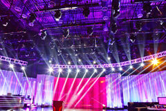 Stage with spotlights Stock Image