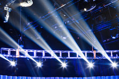 Stage with spotlights Royalty Free Stock Photo