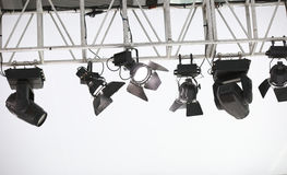 Stage spotlights Stock Images