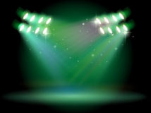 A stage with spotlights Royalty Free Stock Photos
