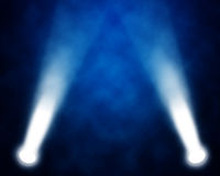 Stage spotlights. Illustration of blue stage spotlights stock image
