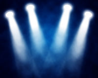Stage spotlights. Illustration of blue stage spotlights Stock Images