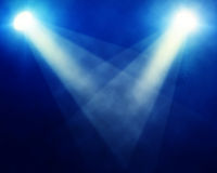 Stage spotlights. Illustration of bright stage spotlights royalty free stock photos