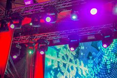 Stage spotlights royalty free stock photo
