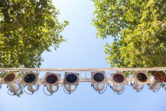 Stage spotlights Royalty Free Stock Photography