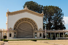 Stage of Spreckels Organ Pavilion in Balboa Park Stock Photo