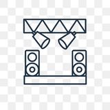 Stage vector icon isolated on transparent background, linear Sta vector illustration