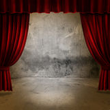 Stage and velvet curtains Stock Photos