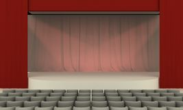 Stage - View Royalty Free Stock Images