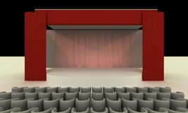 Stage - View Royalty Free Stock Photo