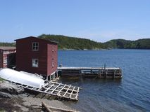 Stage and Warf in Newfoundland stock photos