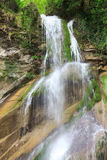Stage waterfall Shapsugs. In the region of greater Sochi Royalty Free Stock Image