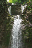 Stage waterfall Shapsugs. In the region of greater Sochi Royalty Free Stock Photo