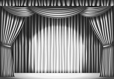 Stage With Curtain Royalty Free Stock Images