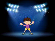 A stage with a young dancer Royalty Free Stock Photos