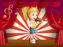 A stage with a young performer Stock Photo