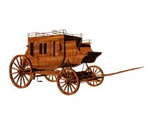 Stagecoach. Isolated 3d illustration of an old west stagecoach Stock Image