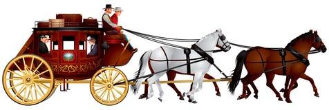 stagecoach ilustração stock
