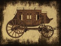Stagecoach vector illustration