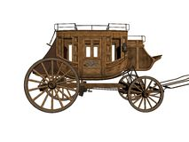 Stagecoach stock illustration