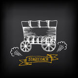 Stagecoach, covered wagon. Sketch vector design. Stock Photo