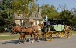 Stagecoach de Williamsburg Foto de Stock Royalty Free