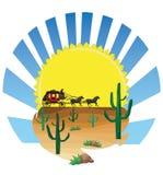 Stagecoach furgon ilustracja wektor