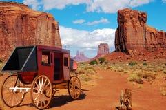 Stagecoach het Westen Stock Foto's
