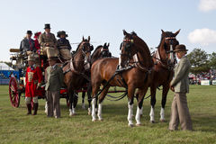 Stagecoach and horses Royalty Free Stock Photography