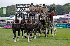 Stagecoach and horses Royalty Free Stock Images