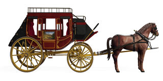 Stagecoach with Horses Royalty Free Stock Photos