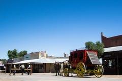 Stagecoach i kowboje zdjęcie royalty free