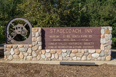 Stagecoach Inn. Entrance to the Stagecoach Inn in Thousand Oaks, California Stock Images