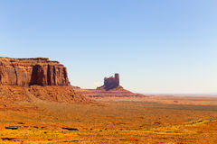 Stagecoach in Monument Valley. Rock formations in Monument Valley including Castle Butte Royalty Free Stock Images