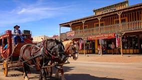Stagecoach na ulicach nagrobek, Arizona zdjęcie royalty free