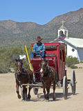 A Stagecoach at Old Tucson, Tucson, Arizona Stock Photos